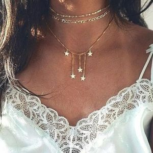 Jewelry - Layered Star Drop Necklace